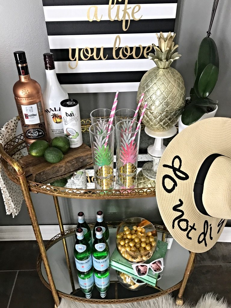 Bar Cart vacation Ready coconut lime cocktail