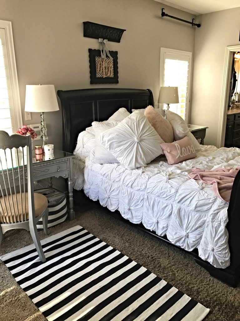 Master Bedroom Spring redo Queen size bedding