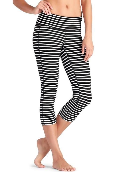 Athleta stripes Chaturang Capri