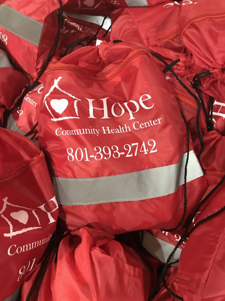 giving back, homeless bags, community, service project