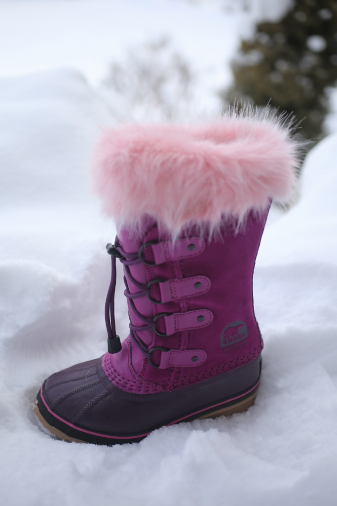 Shades of pink, little girl boot
