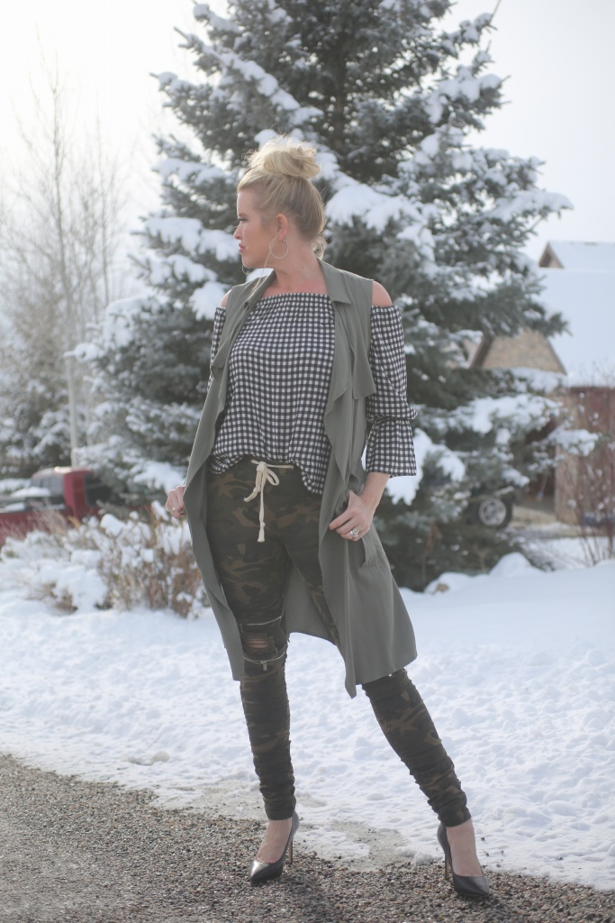 pattern mix outfit