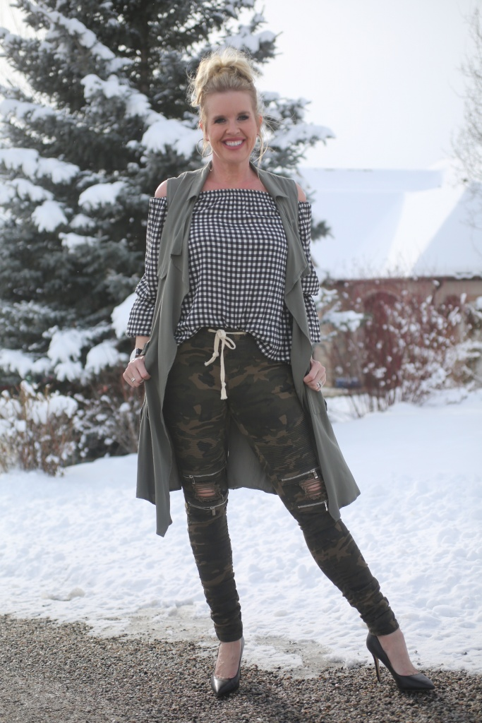 Pattern mix Spring outfit