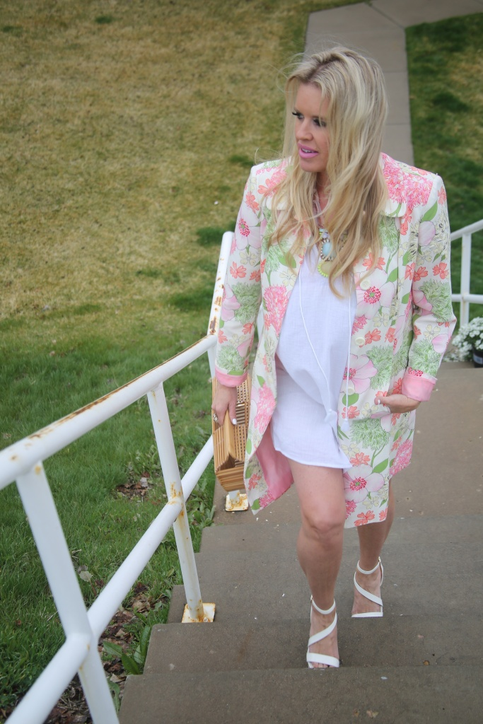 Spring outfit, Bright colors & white