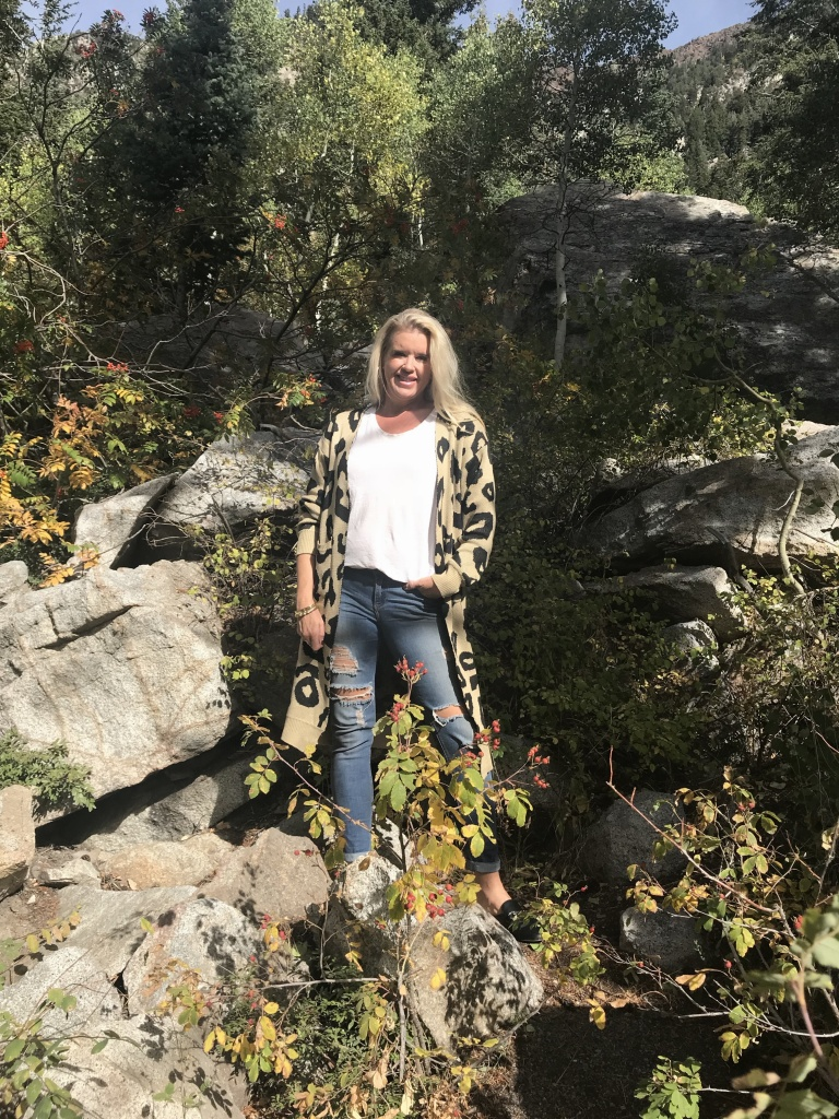 fall photo shoot in Little cotton wood canyon