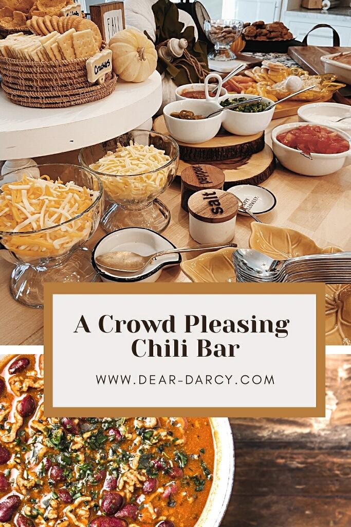 A crowd Pleasing Chili Bar